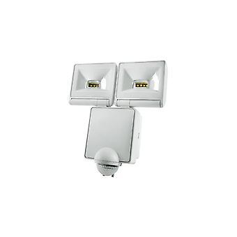 TimeGuard kraftfulde 2x8W LED Energy Saver PIR projektør, hvid