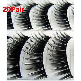 20 par sort tyk naturlige lange Makeup falske falske øjenvipper øjenvipper