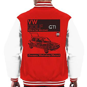 Haynes Workshop handmatige VW Golf GTI 78 tot en met 84 Black mannen Varsity Jacket