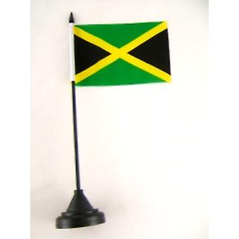 Jamaica Table Flag with Stick and Base