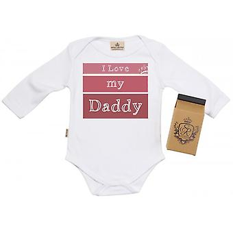 Spoilt Rotten I Love My Daddy Baby Grow 100% Organic In Milk Carton