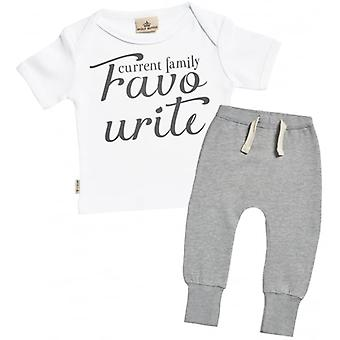 Spoilt Rotten Current Family Favourite Baby T-Shirt & Joggers Outfit Set