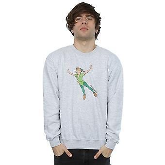 Disney Men's Classic Flying Peter Pan Sweatshirt