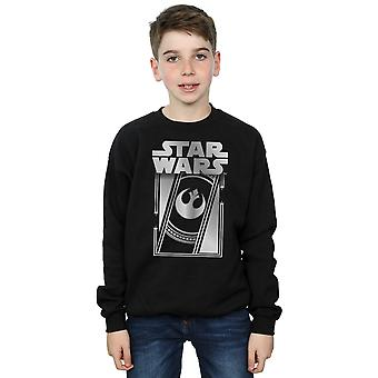 Star Wars Boys The Last Jedi Frame Metallic Sweatshirt