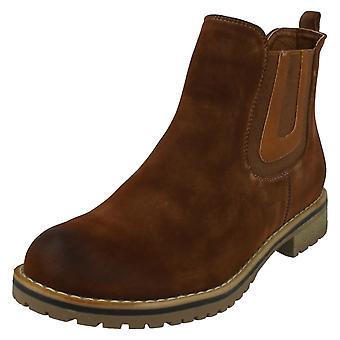 Damer ned på jorden flad Chelsea ankel støvler F50566