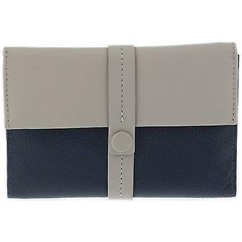 Dents Block Colour Passport Holder - Off White/Navy