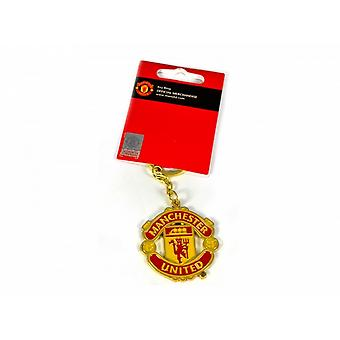 Manchester United FC Official Football Crest Keyring