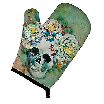 Carolines Treasures  BB5124OVMT Day of the Dead Skull with Flowers Oven Mitt