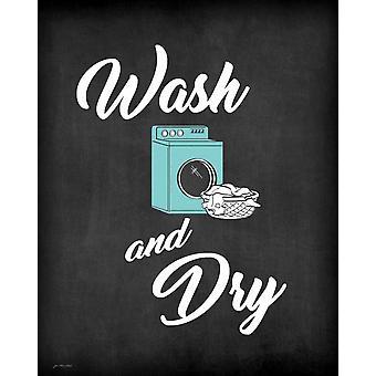 Waschen und Föhnen Poster Print von Jo Moulton