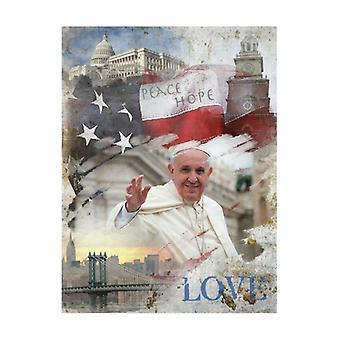 Pope Francis Peace Hope Love Poster Print (13 x 19)