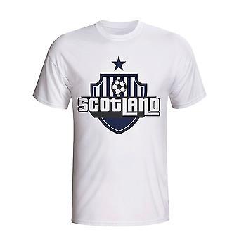 Skottland landet Logo t-skjorte (hvit)