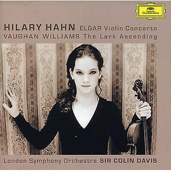 Hilary Hahn - Elgar: Violin Concerto; Vaughan Williams: The Lark Ascending [CD] USA import