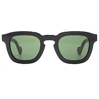 Moncler Keyhole Square Sunglasses In Shiny Black