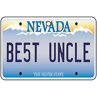 Nevada - Best Uncle License Plate Car Air Freshener