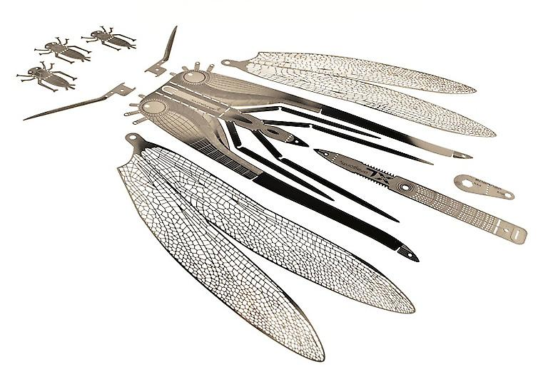 Dragonfly XL Bug Origami Stainless Steel Construction Kit