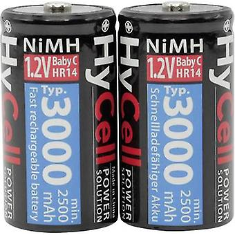 C battery (rechargeable) NiMH HyCell HR14 3000 mAh