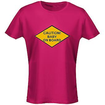 Försiktighet ombord Womens T-Shirt 8 färger (8-20) av swagwear