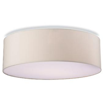 Firstlight Modern Cream Drum Shade Flush Ceiling Pendant Light Fitting