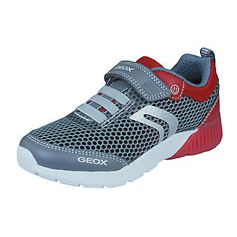 Geox Boys Trainers J Sveth B.C Casual Shoes - Grey