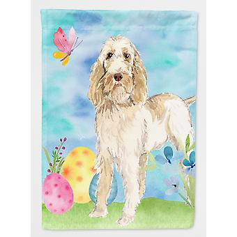Carolines Treasures  CK1897GF Easter Eggs Spinone Italiano Flag Garden Size