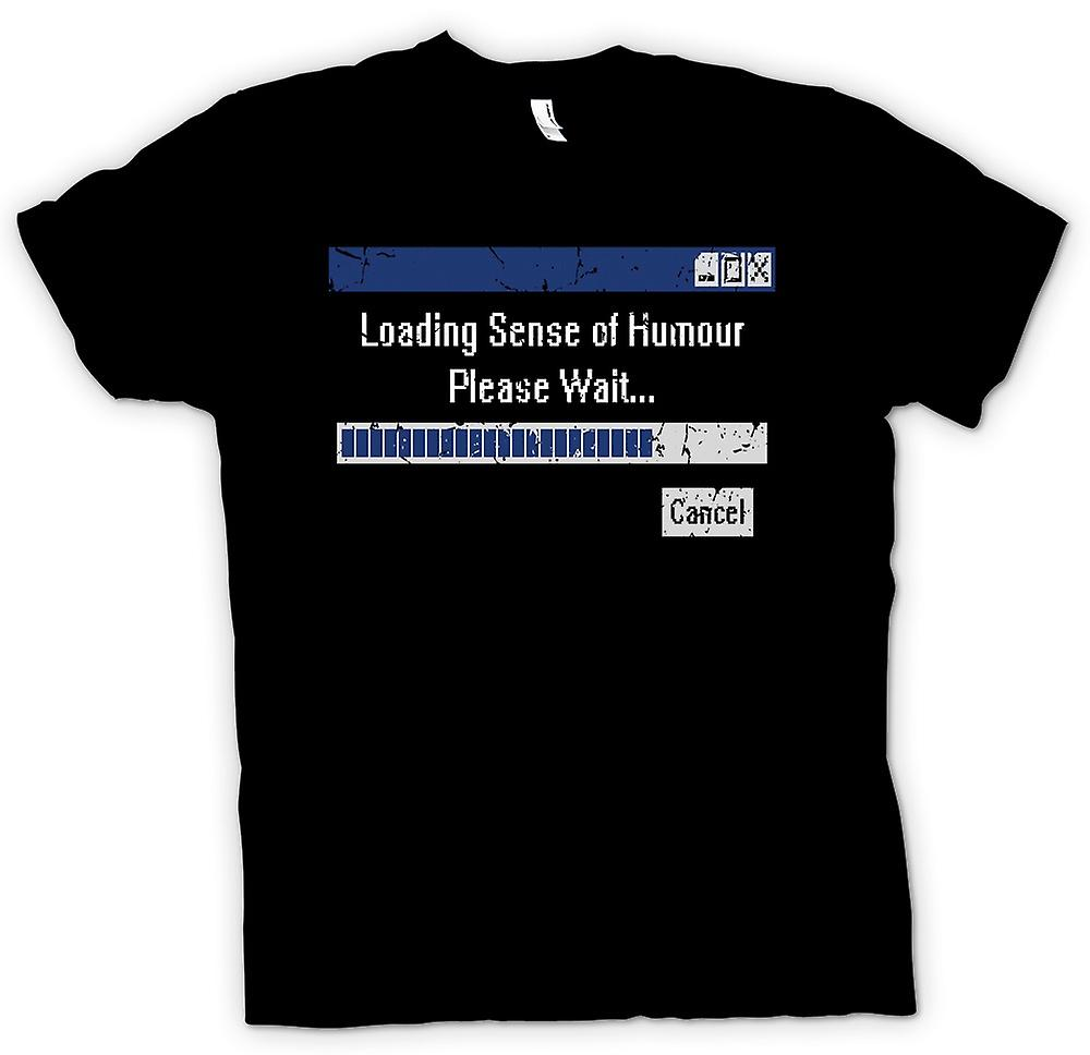 Mens T-shirt - Loading Sense Of Humour - Please Wait