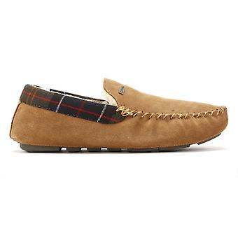 Barbour Mens Camel Monty Suede Slippers