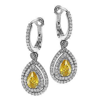 Orphelia Silver 925 Earring Zirconium /Yellow Cz  ZO-7048