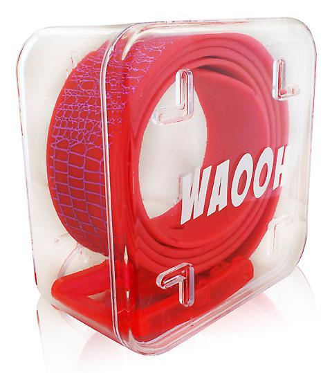 Waooh - cinturón plástico Waooh salmón y violeta