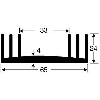 Heat sink 2.8 C/W (L x W x H) 75 x 65 x 24 mm Fischer Elektronik SK 18 75 SA