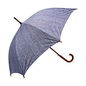 Tweed Herringbone Print  Straight Umbrella HT01