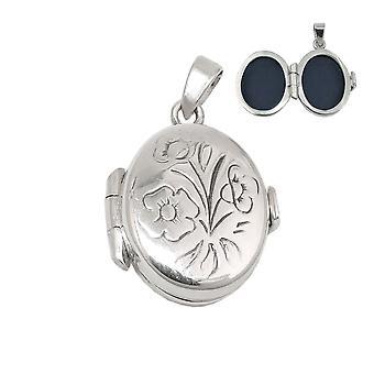 Hänge - medaljong, liten - Silver 925