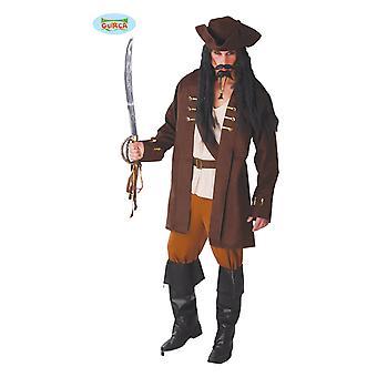 Piraten kapitein carnaval thema partij kostuum voor mannen pirate Brown