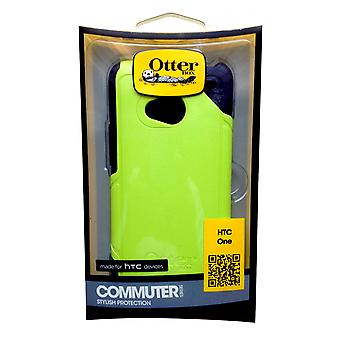 OtterBox Commuter Case for HTC One (M7) - Punked (Neon Green/Navy)