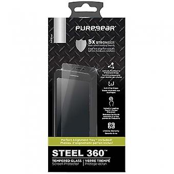 APPLE IPHONE X PUREGEAR STEEL 360 SCREEN PROTECTOR WITH INSTALL TRAY - TEMPERED