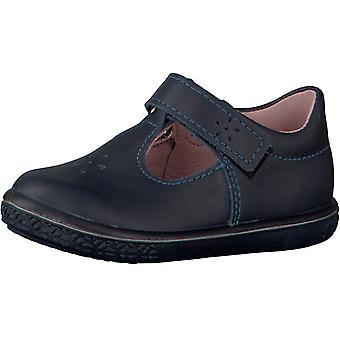 Ricosta ペピーノ少女ウィノナ T-bar 靴ブルーを参照してください。