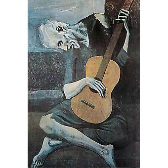 Pablo Picasso Poster The Old Guitarist