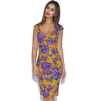 Vesper Raven Floral Dress