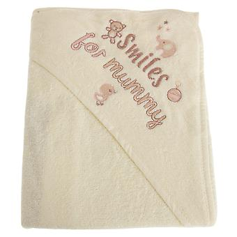 Snuggle Baby Baby Girls/Boys Smiles For Mummy Hooded Towel
