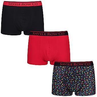 Savile Row ondergoed 3 Pack Boxer korte Trunks Elden
