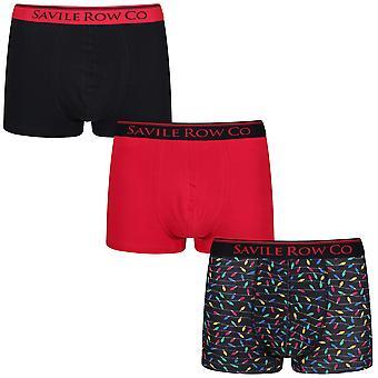 Savile Row Underwear 3 Pack Boxer Short Trunks Elden