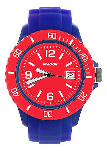 Waooh - Watch Blue Dial & Bezel MONACO38 Color