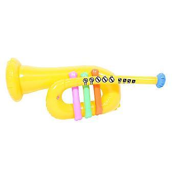 Amarillo de trompeta inflable alrededor de 60cm