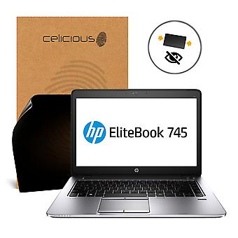 Celicious Privacy 2-Way Anti-Spy Filter Screen Protector Film Compatible with HP EliteBook 745 G2 (Non-Touch)