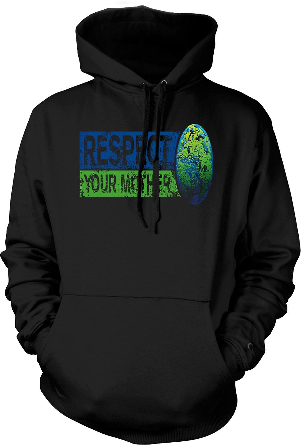Kids Hoodie - Respect your Mother Earth - Funny