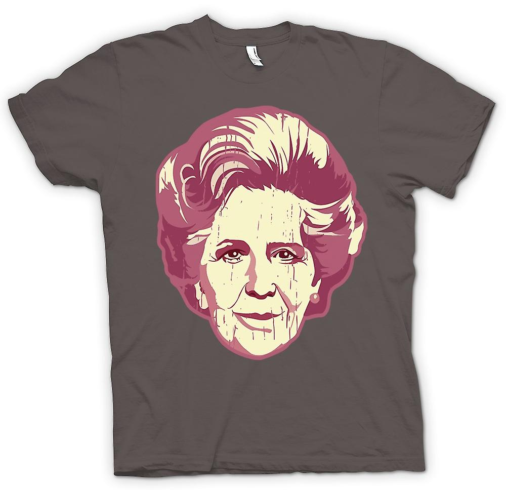 Herr T-shirt-Margaret Thatcher Pop Art