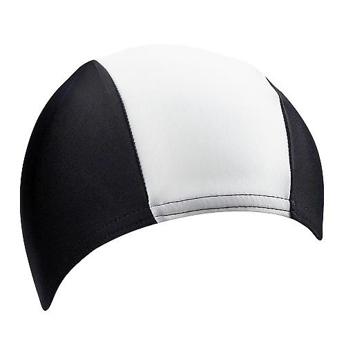 BECO 100% Polyester Long Hair Swimming Cap - Black/White