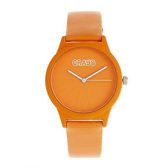 Crayo Splat Unisex Watch - Orange