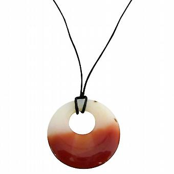 Carnelian Glass Round Pendant Necklace Inexpensive Necklace Gift