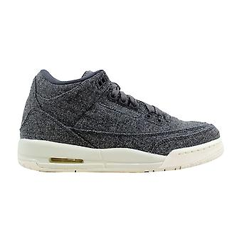 Nike Air Jordan III 3 Retro Wool BG Dark Grey/Dark Grey-Sail Wool 861427-004 Grade-School