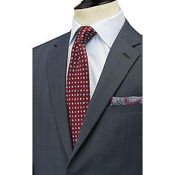 Dobell Boys Navy Suit Jacket Regular Fit Notch Lapel Windowpane Check